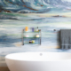 Beautiful Boulder Master Bathroom remodel and wallpaper