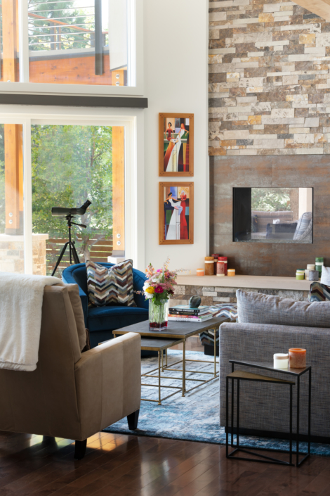 Beautiful Boulder Living Room interior design and remodel