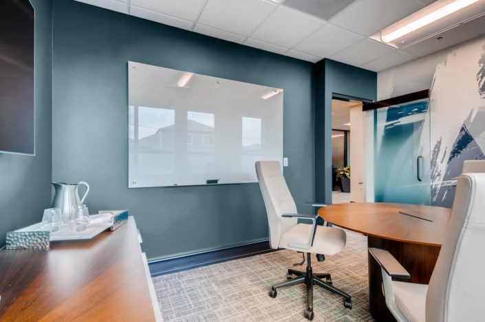 Boulder Office round table with chairs, Wall Art and Decor