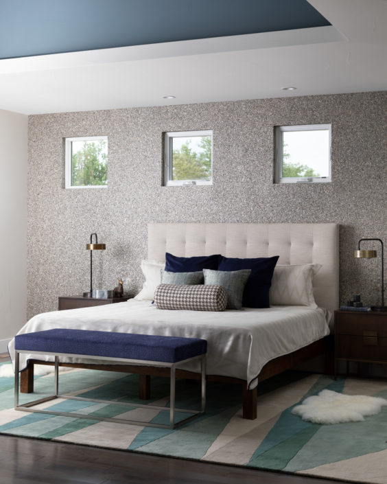 contemporary denver bedroom design wallpaper
