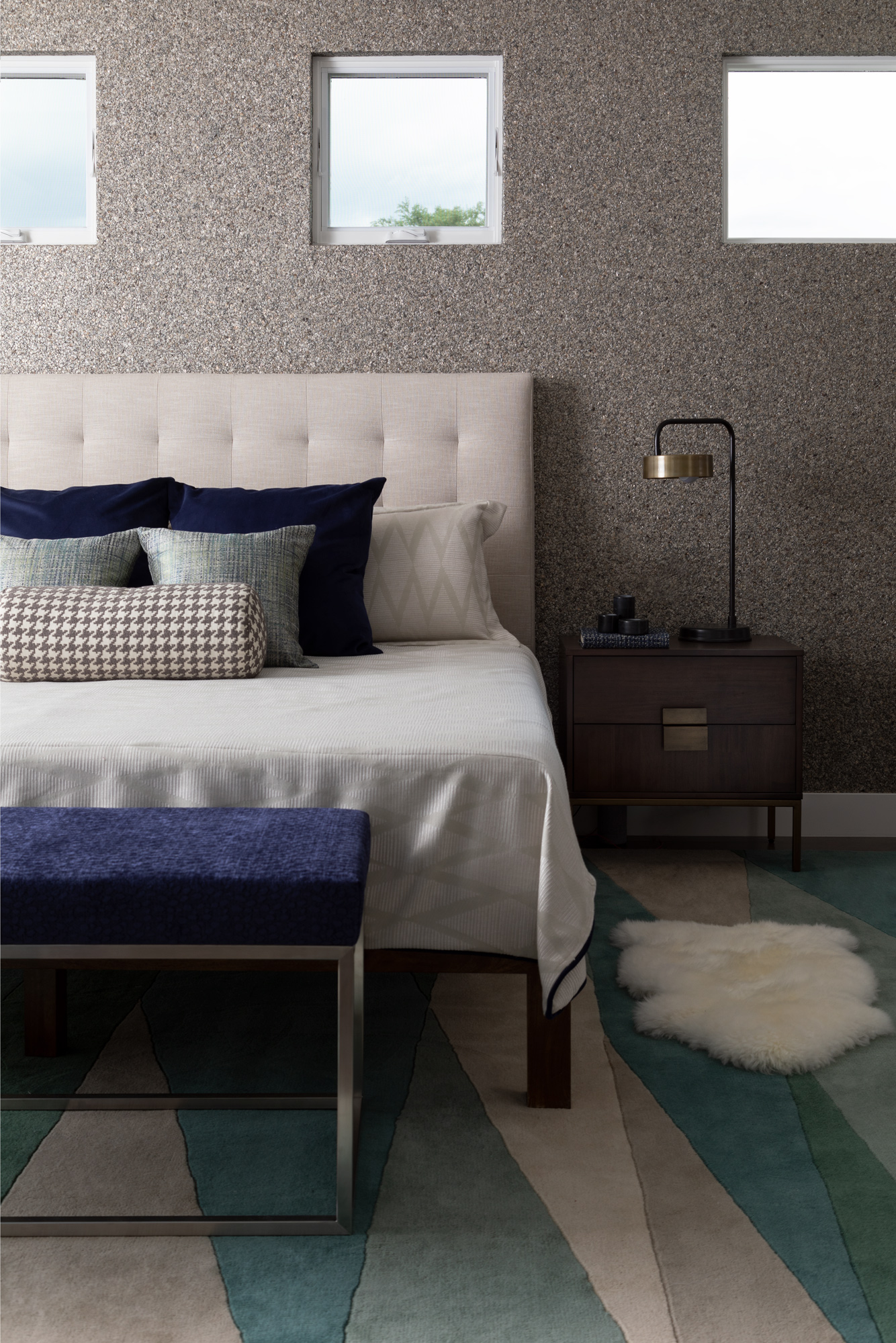 contemporary Denver interior design bedside design
