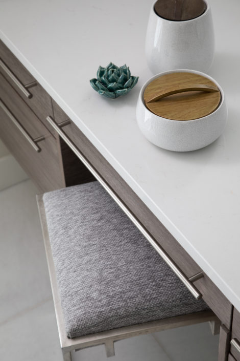 Contemporary Stool and counter with bowls