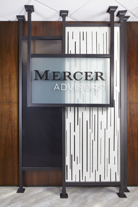 Mercer Advisors Entrance Wall Art