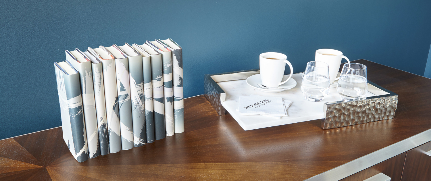 Office art and coffee tray for conference room