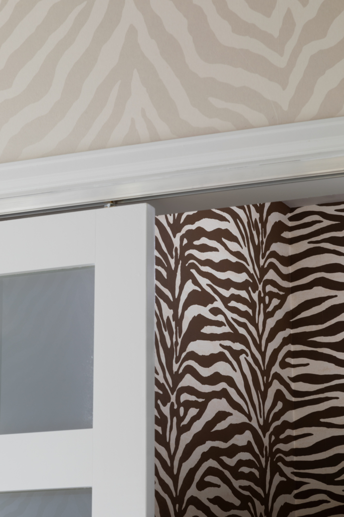 Complementing zebra wallpaper designs